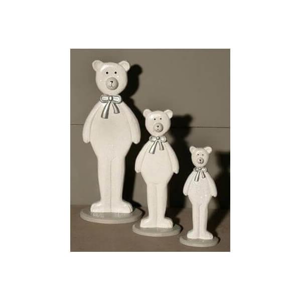 3 figurines ours en bois 674