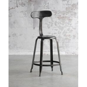 BALEINE - Industrial style steel bar stool