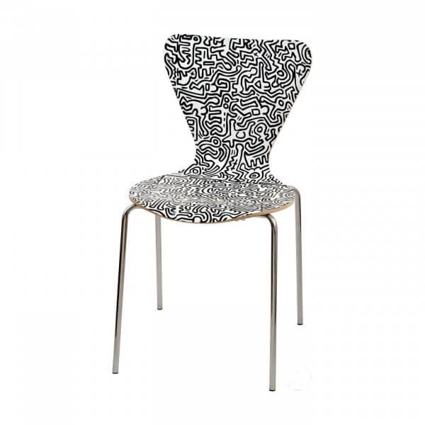 Chaise de repas Keith Haring