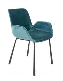 Chaise en velours Bleu