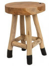 Wood low stool