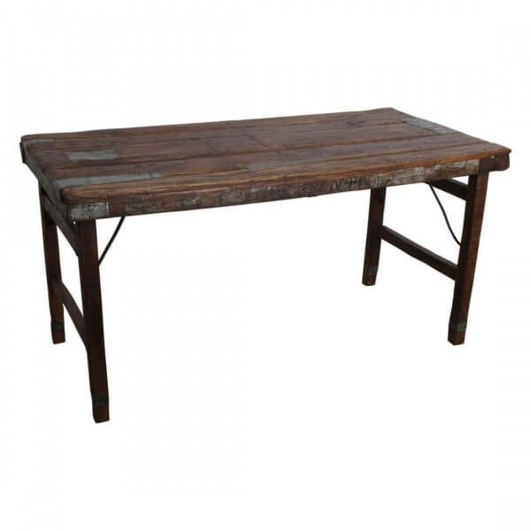 Table ancienne pliante marron