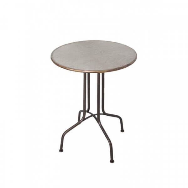 Bistro Table In Black Vintage Iron