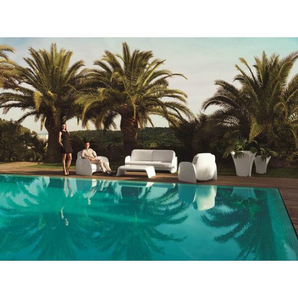 Salon jardin blanc contemporain