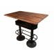 Table haute loft bois