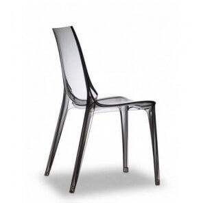 Smoked transparent dining chair