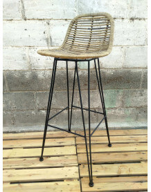 Black Grafik bar stool