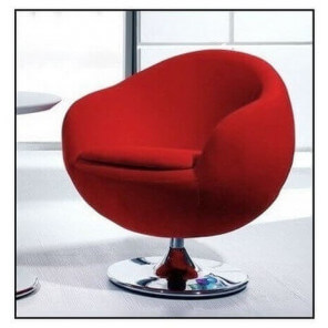 Design red armchair Ball
