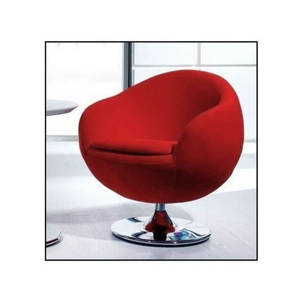 fauteuil rouge contemporain rotatif. Black Bedroom Furniture Sets. Home Design Ideas