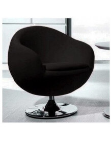 Design black armchair Ball