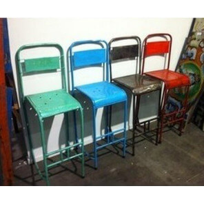 VINTAGE - Vintage metal stool