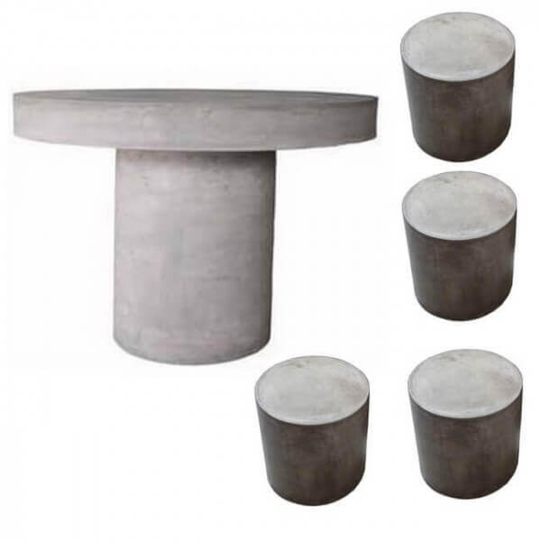 Table b ton ext rieur for Table exterieur beton
