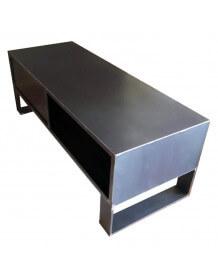 Meuble TV Steel 120 cm acier brut