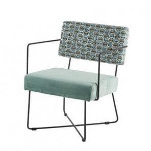 grey blue Fifties armchair