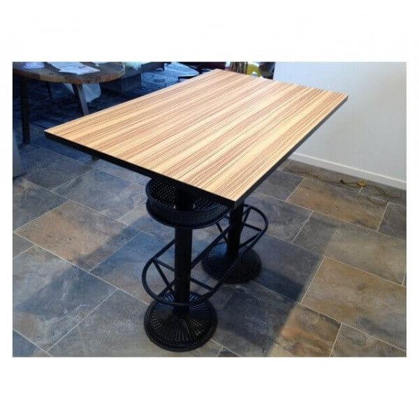 ensemble table haute industriel bistro et 4 tabourets. Black Bedroom Furniture Sets. Home Design Ideas