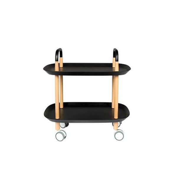 Table à roulettes Trolley noir