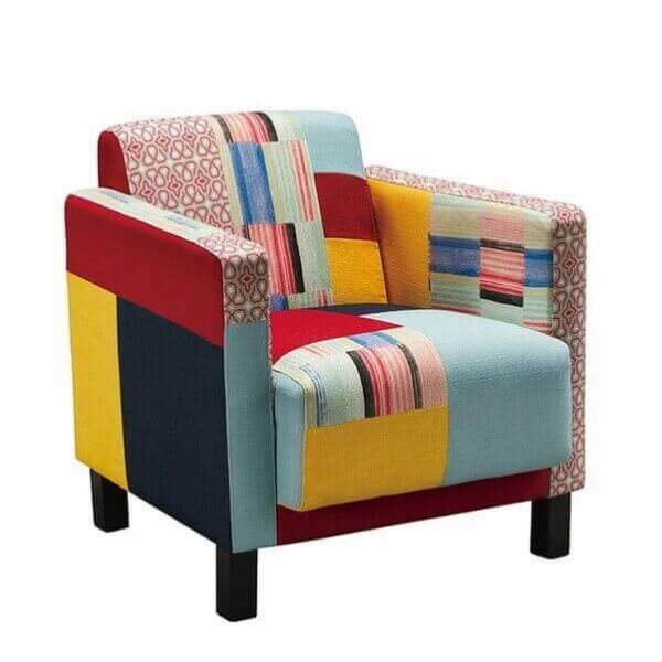 Fauteuil art deco patchwork color - Fauteuil design colore ...