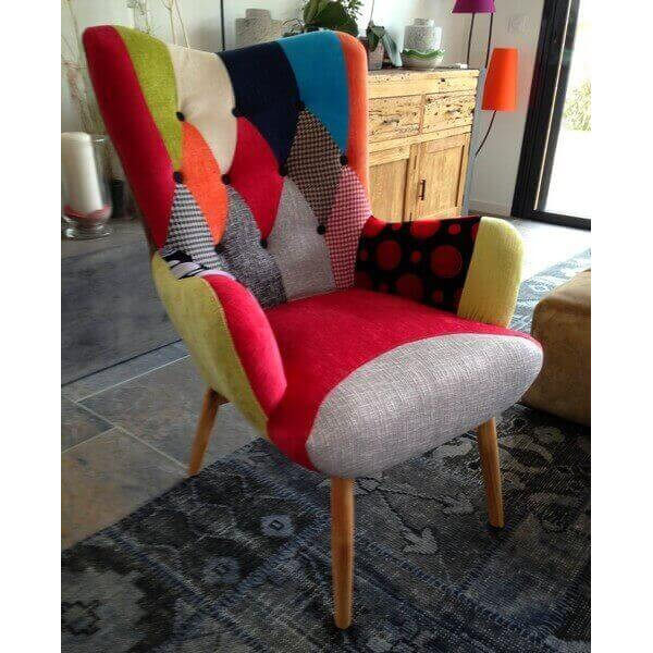 Java Chair Patchwork Color Armchair Scandinavian Style