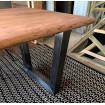 Table repas bois acier