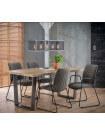 MANGO - Table repas bois massif et acier