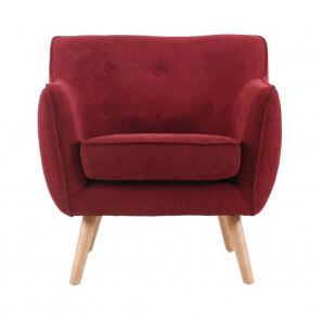 Red Aksel Scandinavian armchair