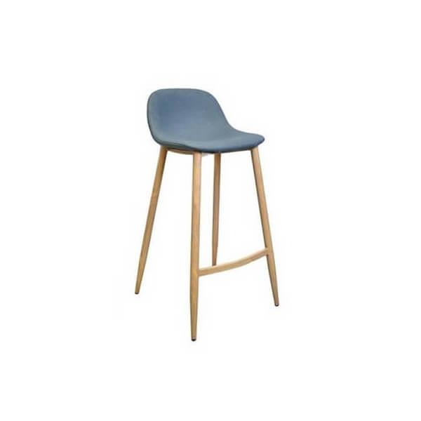 Clip blue bar stool