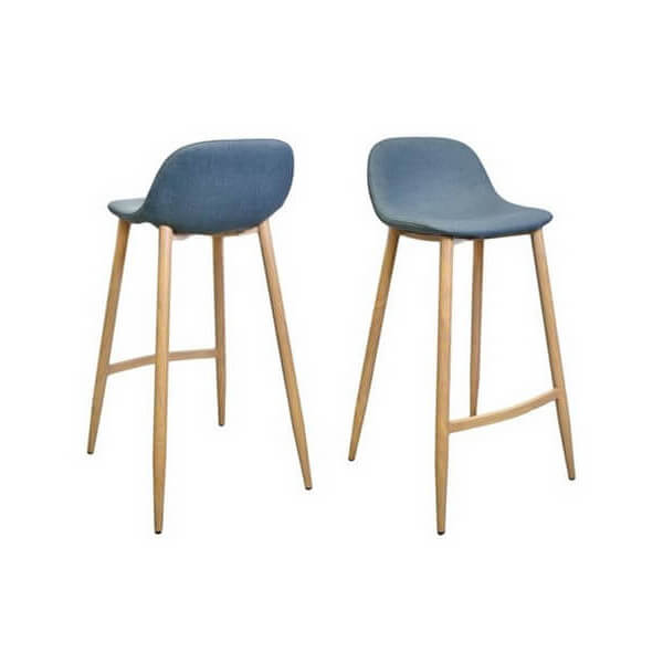 Chaise Bar Design Clip Bleu