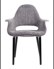 Tweed armchair Oslo grey