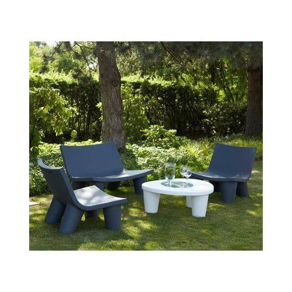 slide grand salon de jardin design ensemble table chaise