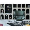 Fauteuil salon moderne Rockwell vert
