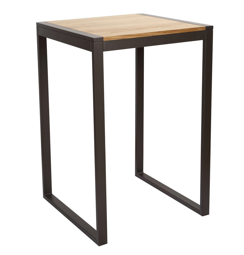 Mange debout carr bois clair Table mange debout but