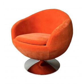 BALL - Design armchair in orange fabric