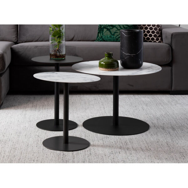 Set de 3 tables Snow Zuiver
