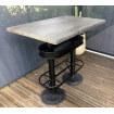 Table haute style industriel
