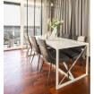Table en acier blanc