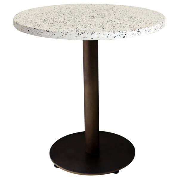 Table Terrazzo finition bronze