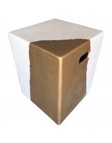 Bout de canapé Blanc/Or