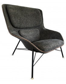 Fauteuil salon moderne Rockwell gris