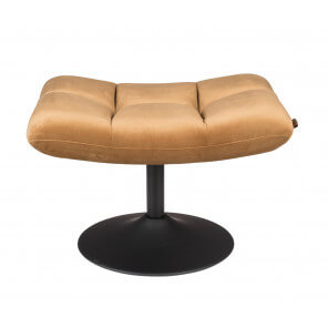 Velvet Hocker Lounge Gold