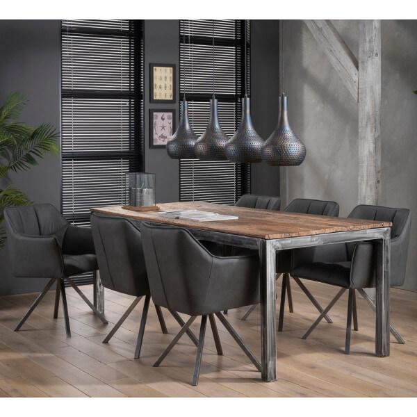 Table repas acier ponce 210