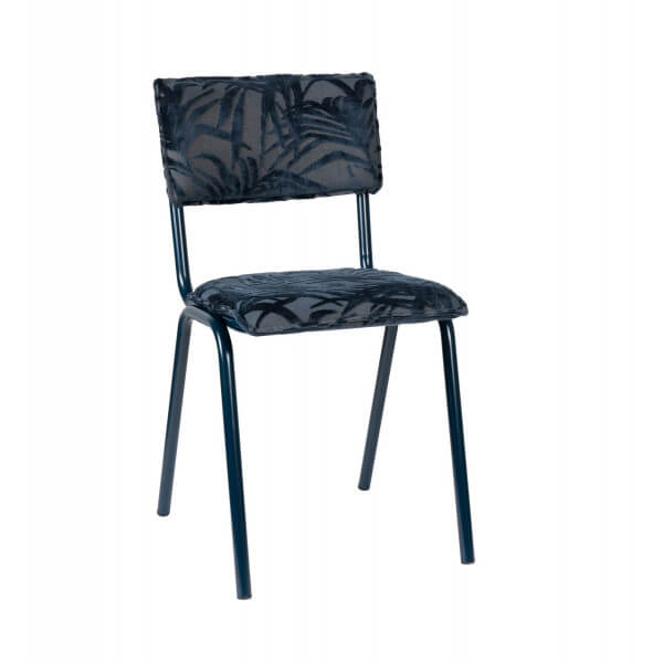 Chaise Back to Miami bleu nuit