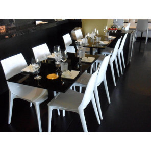 LYPO - Dining chair Glossy White