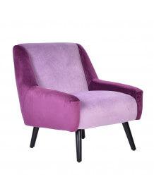 Purple velvet arm chair Floride