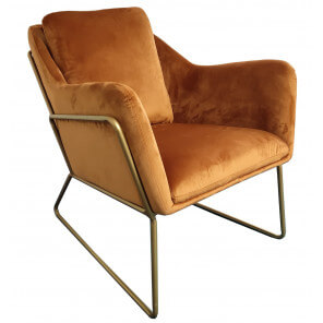 Orange golden armchair