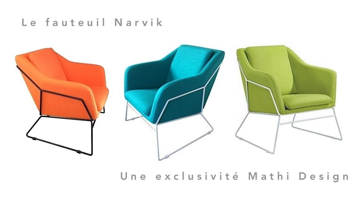 Fauteuil style Scandinave Narvik