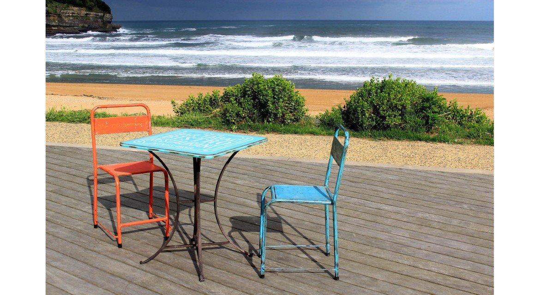 Selection of original chairs, vintage, steel, wood, industrial